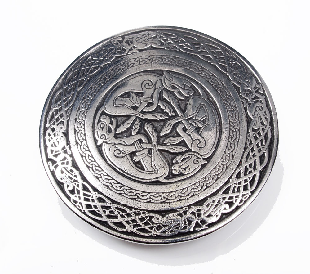 Celtic Dog Belt Buckle