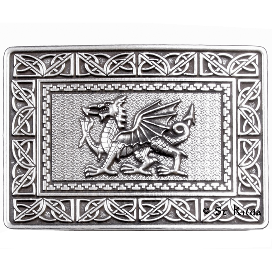 C-BBDRAG01 Welsh Dragon Belt Buckle