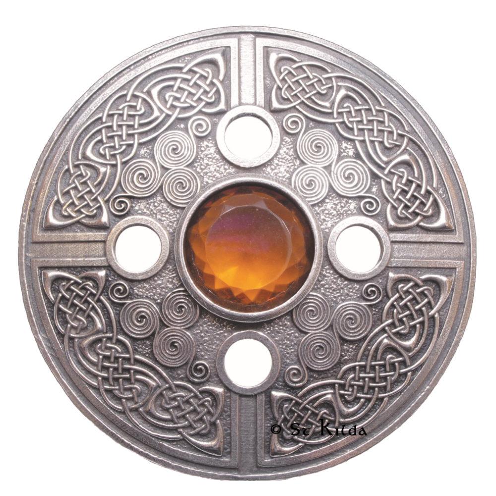 C-PLBRSPST Celtic spiral with topaz stone 2