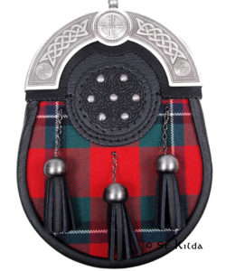 L-SGT29-Sinclair-Modern-Tartan-Embossed-Leather-Targe-Antique