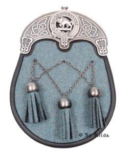 L-SGTCLAN01-Lovat-Blue-Tweed-Antique-Cross-Chains-Weir-Crest
