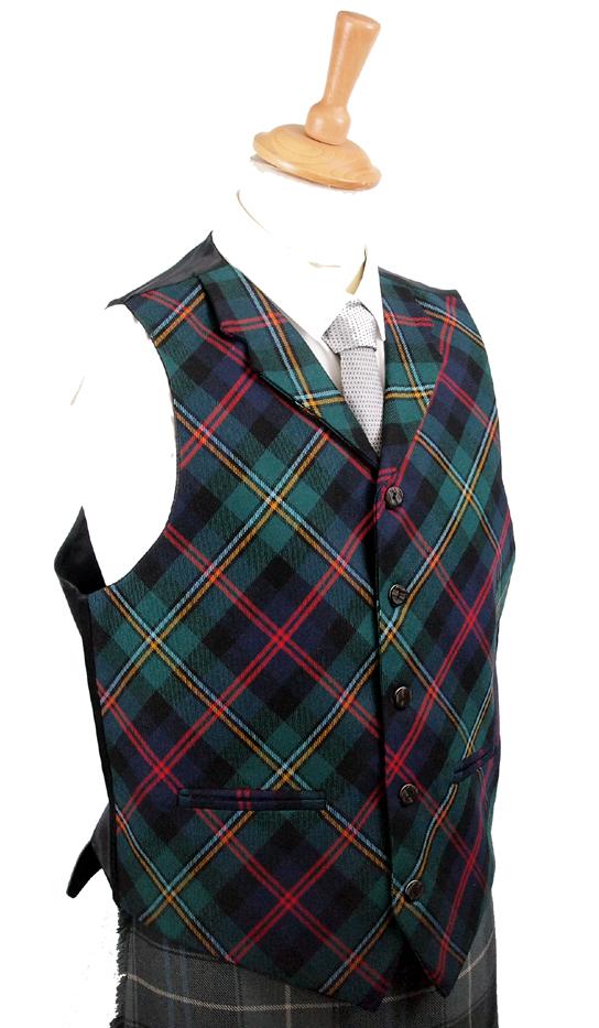 Tartan-Waistcoat-with-collar